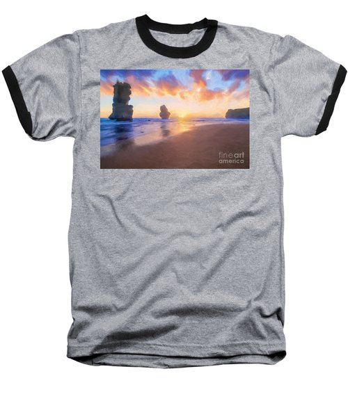 12 Apostles With Marshmallow Skies    Og Baseball T-Shirt