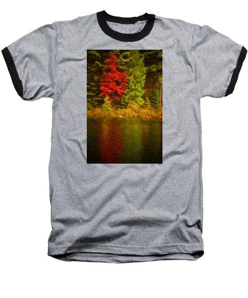 Fall Reflections Baseball T-Shirt by Andre Faubert