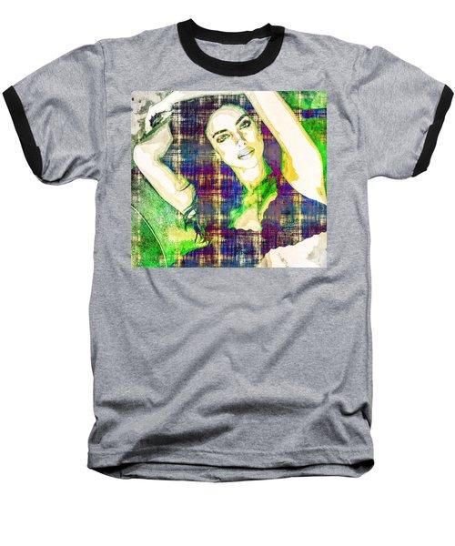 Irina Shayk Baseball T-Shirt by Svelby Art