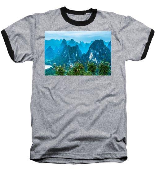Karst Mountains Landscape Baseball T-Shirt
