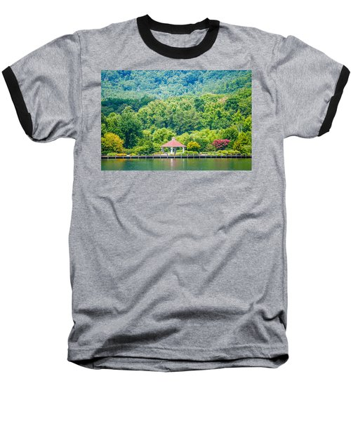 Scenery Around Lake Lure North Carolina Baseball T-Shirt