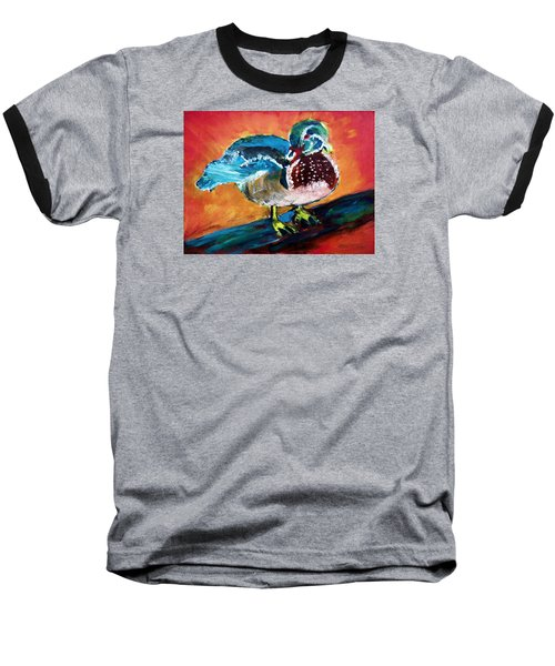 122215 Male Wood Duck Baseball T-Shirt by Garland Oldham