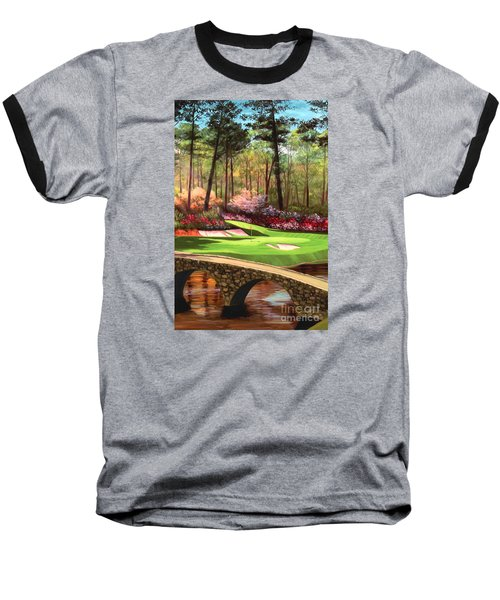 12th Hole At Augusta Ver Baseball T-Shirt by Tim Gilliland