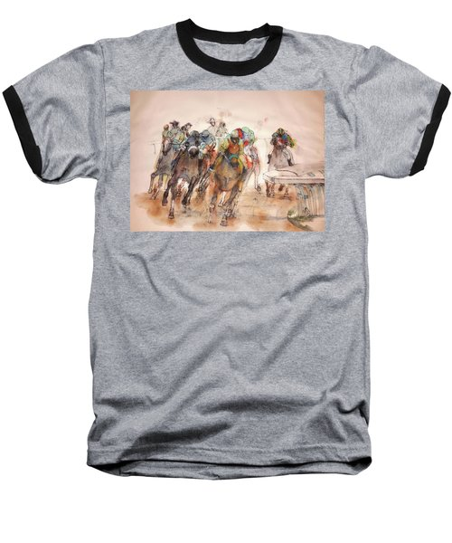 Baseball T-Shirt featuring the painting American  Pharaoh  Album  by Debbi Saccomanno Chan