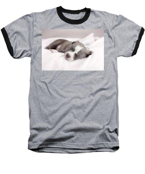 Baseball T-Shirt featuring the photograph American Pitbull Puppy by Peter Lakomy