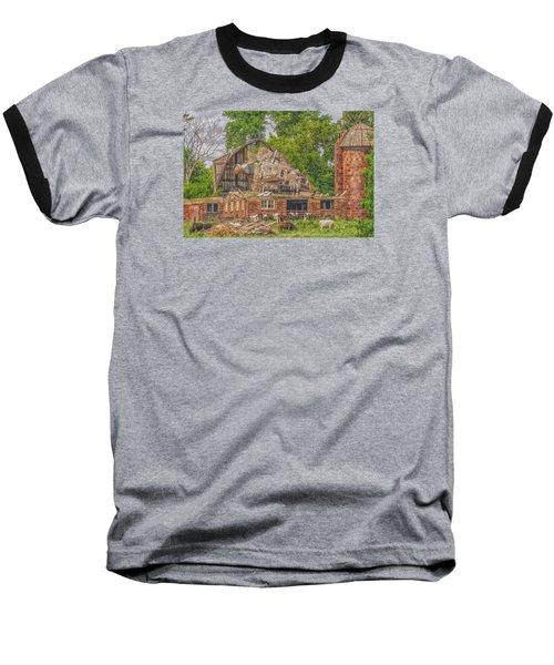 Barn Baseball T-Shirt by Dan Traun