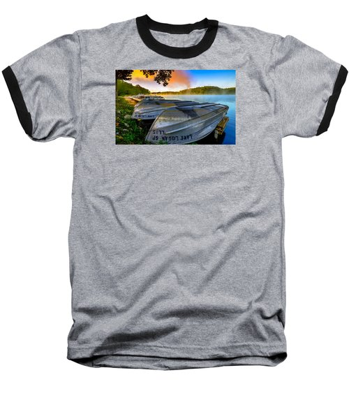 Lake Logan 2 Baseball T-Shirt by Brian Stevens