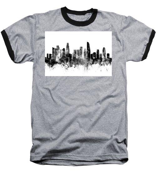 Los Angeles California Skyline Baseball T-Shirt