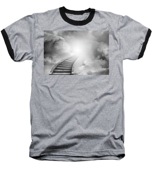 Baseball T-Shirt featuring the photograph Stairway To Heaven by Les Cunliffe