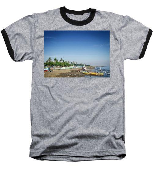 Traditional Fishing Boats On Dili Beach In East Timor Leste Baseball T-Shirt