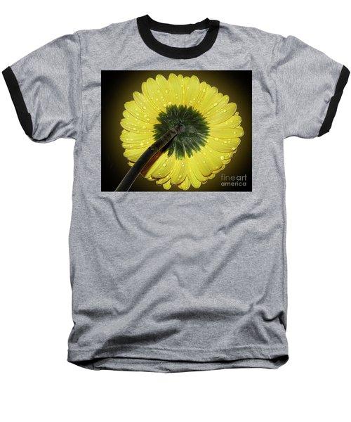 Baseball T-Shirt featuring the photograph Yellow Gerber by Elvira Ladocki