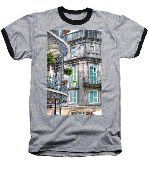 1358 French Quarter Balconies Baseball T-Shirt