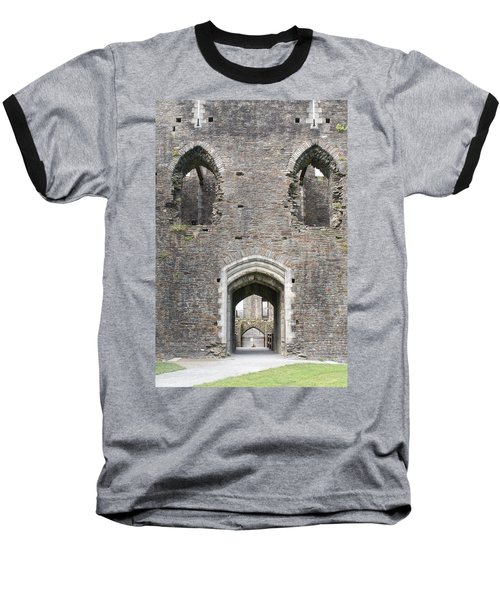 Caerphilly Castle Baseball T-Shirt