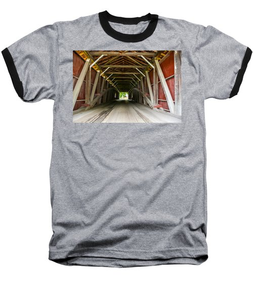 143 Feet Of Covered Bridge Baseball T-Shirt