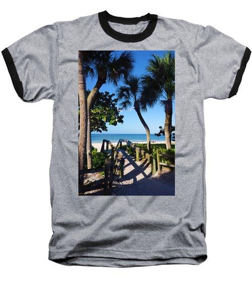 14th Ave S Beach Access Ramp - Naples Fl Baseball T-Shirt