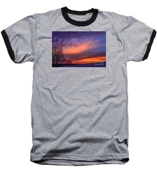 Dawn Of The Day Baseball T-Shirt by Thomas R Fletcher