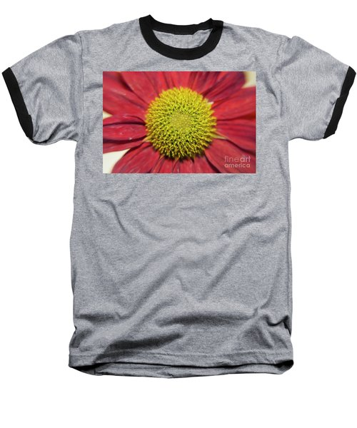 Red Flower Baseball T-Shirt by Elvira Ladocki