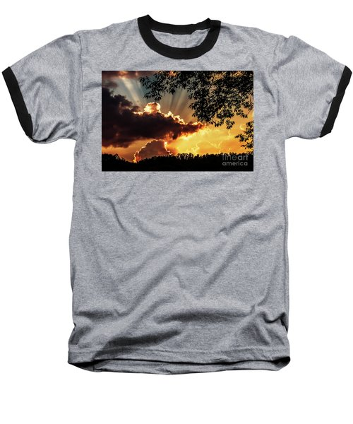 Baseball T-Shirt featuring the photograph Appalachian Sunset by Thomas R Fletcher