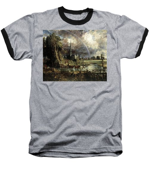 Salisbury Cathedral From The Meadows Baseball T-Shirt