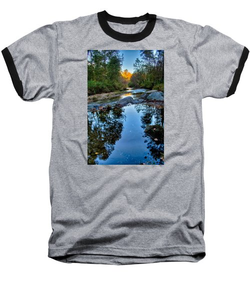 Stone Mountain North Carolina Scenery During Autumn Season Baseball T-Shirt