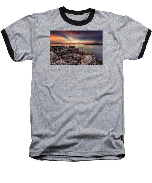 Sunst Over The Ocean Baseball T-Shirt