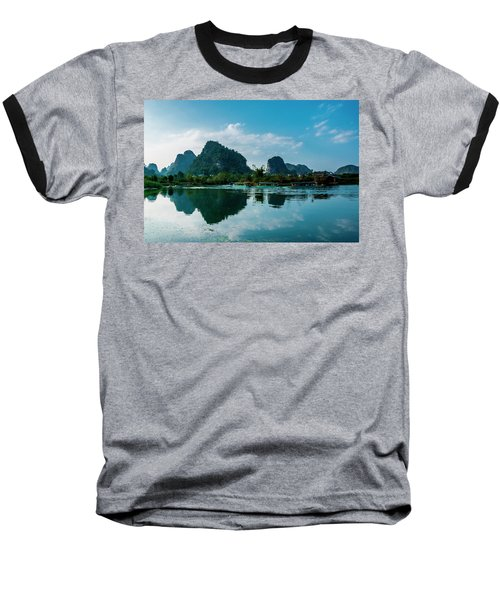The Karst Mountains And River Scenery Baseball T-Shirt