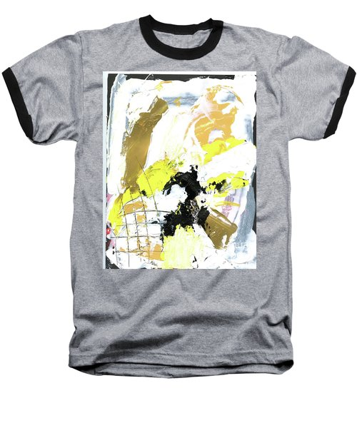 Baseball T-Shirt featuring the painting Three Color Palette by Michal Mitak Mahgerefteh