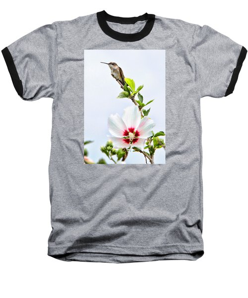 Baseball T-Shirt featuring the photograph Hummingbird by John Freidenberg