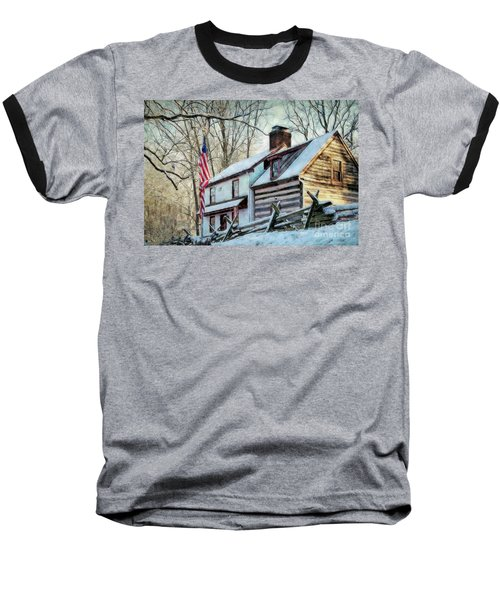 1700's Log House In West Chester, Pa Baseball T-Shirt