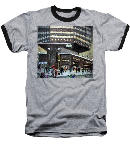 175 Federal Street Baseball T-Shirt by Rita Brown