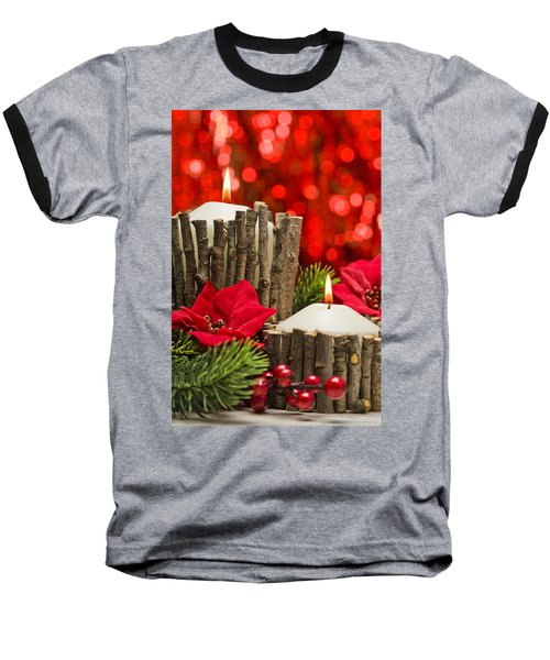 Baseball T-Shirt featuring the photograph Autumn Candles by Ulrich Schade