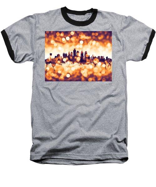 Philadelphia Pennsylvania Skyline Baseball T-Shirt