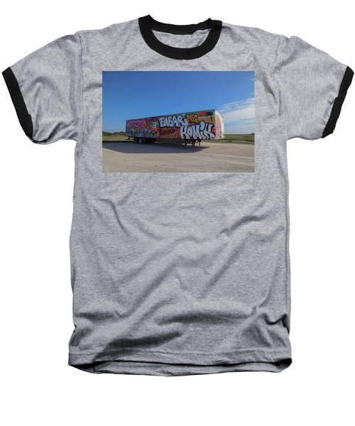 18 Wheeler Art Baseball T-Shirt