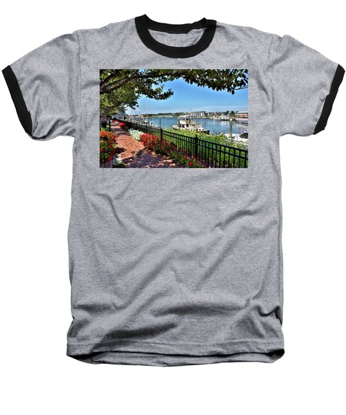 Baseball T-Shirt featuring the photograph 1812 Memorial Park - Lewes Delaware by Brendan Reals