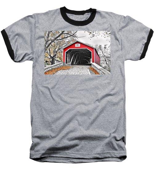 Baseball T-Shirt featuring the photograph 1839 Kreidersville Bridge by DJ Florek
