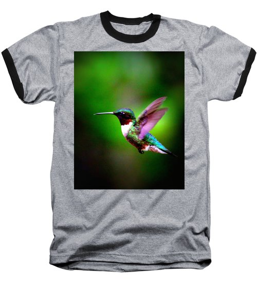 1846-007 - Ruby-throated Hummingbird Baseball T-Shirt