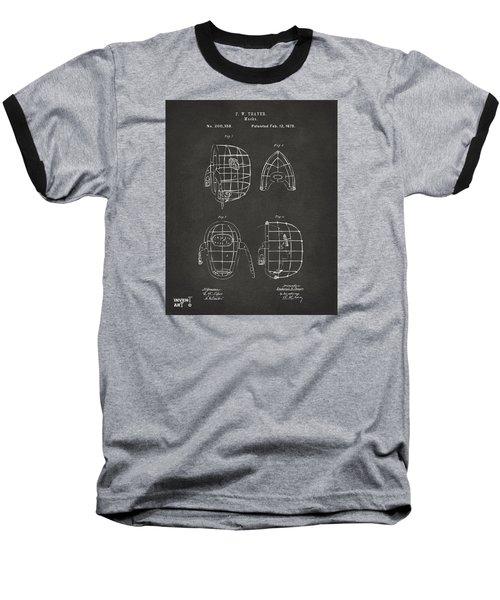1878 Baseball Catchers Mask Patent - Gray Baseball T-Shirt