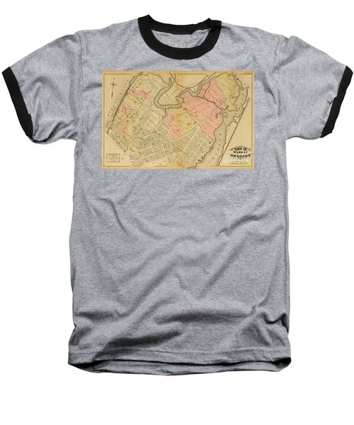 1879 Inwood Map  Baseball T-Shirt
