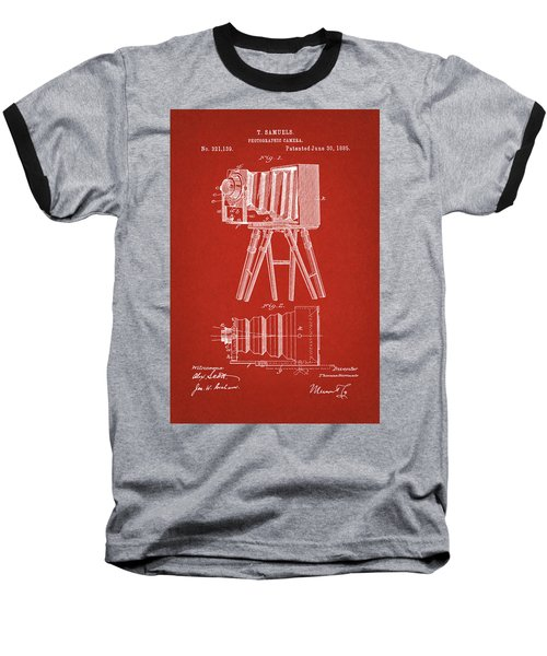 1885 Camera Us Patent Invention Drawing - Red Baseball T-Shirt
