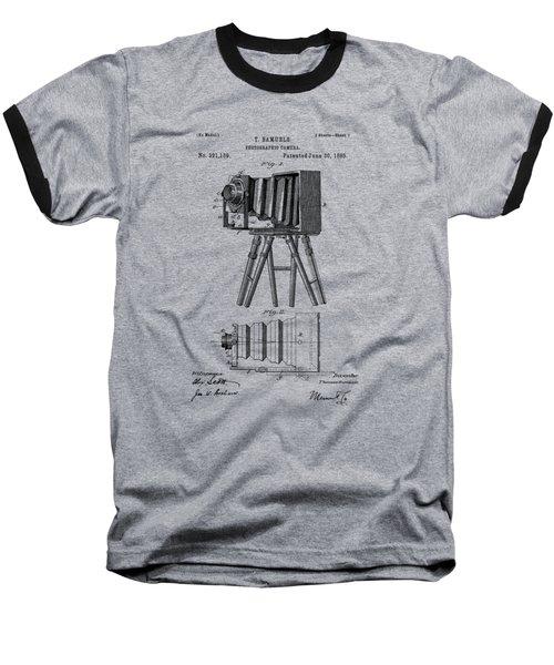 1885 View Camera Patent  Baseball T-Shirt by Barry Jones