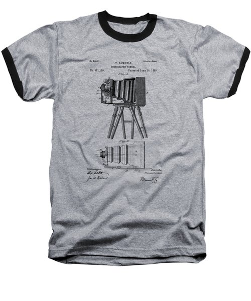 1885 View Camera Patent  Baseball T-Shirt