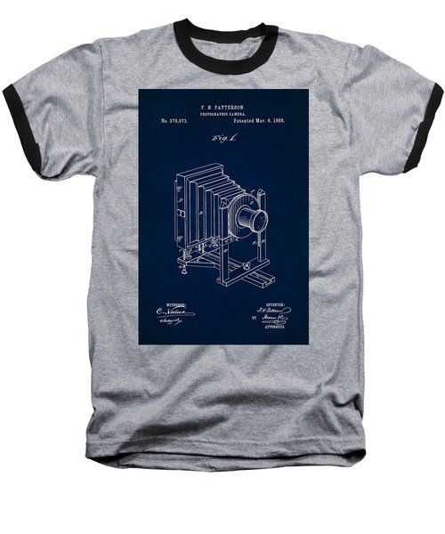 1888 Camera Us Patent Invention Drawing - Dark Blue Baseball T-Shirt