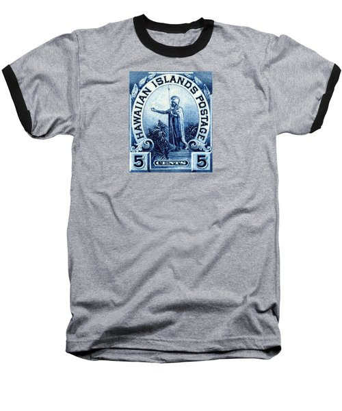 1899 Statue Of Kamehameha Stamp Baseball T-Shirt