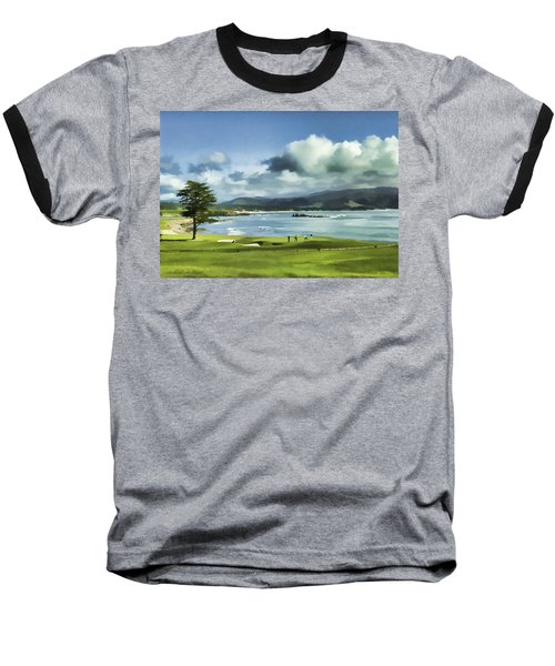 18th Hole Pebble Beach 2 Baseball T-Shirt