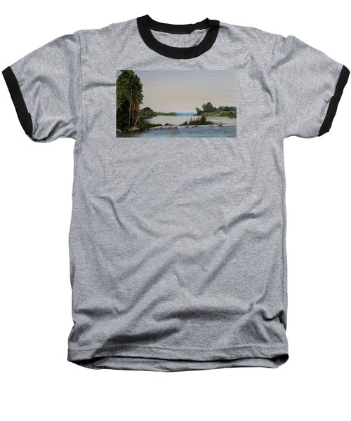 Baseball T-Shirt featuring the painting 19 Geese by Marilyn  McNish