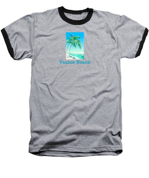 Venice Beach Baseball T-Shirt by Brian Edward
