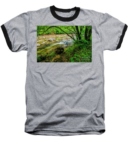 Baseball T-Shirt featuring the photograph Williams River Summer by Thomas R Fletcher