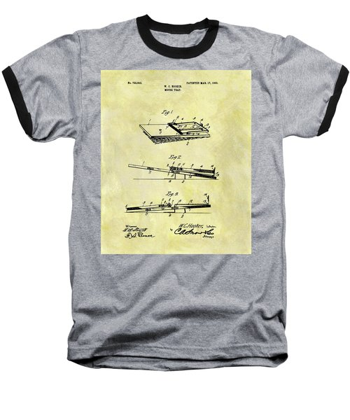 Baseball T-Shirt featuring the mixed media 1903 Mouse Trap Patent by Dan Sproul
