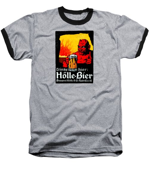 1905 German Beer Poster Baseball T-Shirt by Historic Image