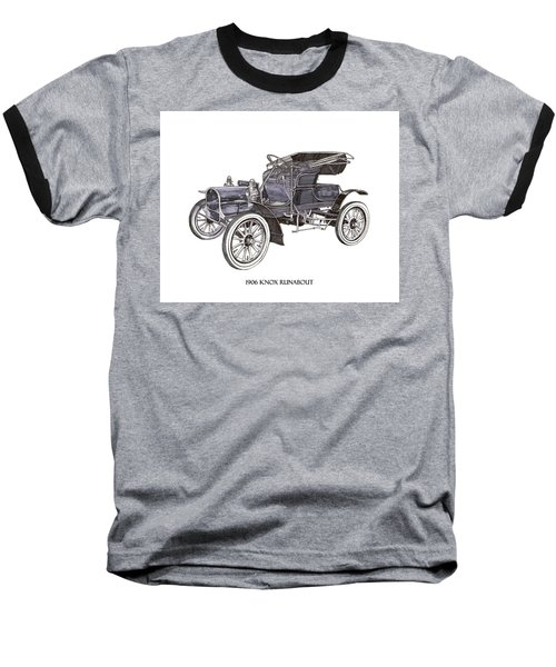 Baseball T-Shirt featuring the drawing 1906 Knox Model F 3 Surry by Jack Pumphrey